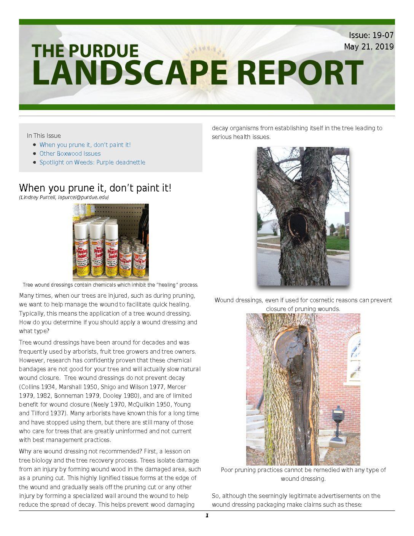 19-07 Archives - Purdue Landscape Report